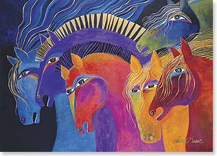 Magnet - Wild Horses of Fire | Laurel Burch® | 31230 | Leanin' Tree
