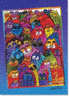 Magnet - Colorful Cats | Laurel Burch&amp;reg; | 31281 | Leanin' Tree