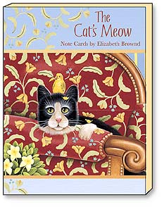 Boxed Blank Note Cards<BR/>3 each of 4 designs - Blank Note Cards | The Cat's Meow by E. Brownd | Elizabeth Brownd | 34605 | Leanin' Tree