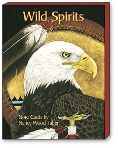 Boxed Blank Note Cards<BR/>3 each of 4 designs - 'Wild Spirits' by Nancy Wood Taber | Nancy Wood Taber | 34612 | Leanin' Tree