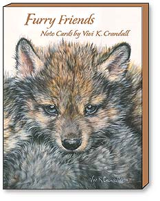 Boxed Blank Note Cards<BR/>3 each of 4 designs - Furry Friends by Vivi Crandall - 34616 | Leanin' Tree