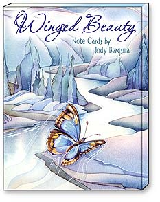 Boxed Blank Note Cards<BR/>3 each of 4 designs - Winged Beauty | Jody Bergsma | 34618 | Leanin' Tree