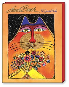 Boxed Greeted Note Cards<BR/>3 each of 4 designs - Cats by Laurel Burch - 34632 | Leanin' Tree