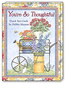 Boxed Greeted Note Cards<BR/>3 each of 4 designs - 'You're So Thoughtful' Thank You Cards by Debbie Mumm | Debbie Mumm | 34637 | Leanin' Tree