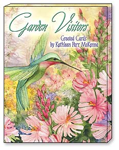 Boxed Greeted Note Cards<BR/>3 each of 4 designs - Greeted Note Cards | Garden Visitors by K.P. McKenna - 34639 | Leanin' Tree