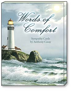 Boxed Greeted Note Cards<BR/>3 each of 4 designs - Sympathy Cards | Words of Comfort by Anthony Casay - 34640 | Leanin' Tree