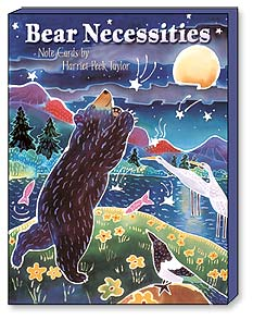 Boxed Blank Note Cards<BR/>3 each of 4 designs - Bear Necessities by Harriet Peck Taylor - 34642 | Leanin' Tree
