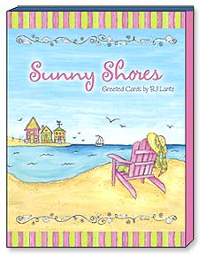 Boxed Greeted Note Cards<BR/>3 each of 4 designs - Sunny Shores - 34645 | Leanin' Tree