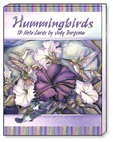 Boxed Blank Note Cards<BR/>3 each of 4 designs - Blank Note Cards | Hummingbirds by Jody Bergsma - 34648 | Leanin' Tree