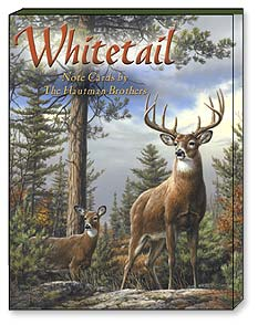 Boxed Blank Note Cards<BR/>3 each of 4 designs - Whitetail by the Hautman Brothers - 34650 | Leanin' Tree