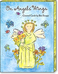 Boxed Greeting Note Cards - Blank Note Cards | On Angels Wings | Bee Sturgis | 34656 | Leanin' Tree