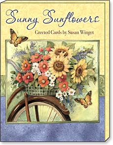 Boxed Greeted Note Cards<BR/>3 each of 4 designs - Sunny Sunflowers by Susan Winget - 34661 | Leanin' Tree