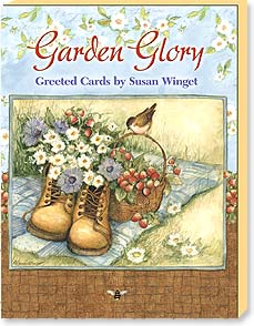 Boxed Greeted Note Cards<BR/>3 each of 4 designs - Garden Glory by Susan Winget - 34663 | Leanin' Tree