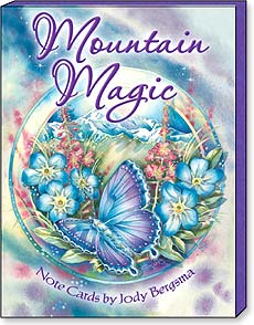 Boxed Blank Note Cards<BR/>3 each of 4 designs - Mountain Magic by Jody Bergsma - 34665 | Leanin' Tree