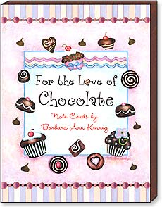 Boxed Blank Note Cards<BR/>3 each of 4 designs - For the Love of Chocolate by B.A. Kenney - 34667 | Leanin' Tree