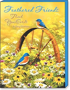 Boxed Greeted Note Cards<BR/>3 each of 4 designs - Feathered Friends by Greg Giordano - 34670 | Leanin' Tree