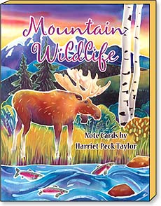 Boxed Blank Note Cards<BR/>3 each of 4 designs - Mountain Wildlife by Harriet Peck Taylor - 34671 | Leanin' Tree