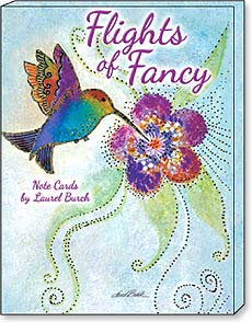 Boxed Blank Note Cards - Flights of Fancy by Laurel Burch - 34674 | Leanin' Tree