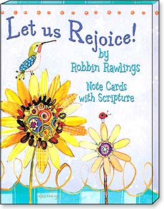 Boxed Blank Note Cards<BR/>3 each of 4 designs - Let Us Rejoice! by Robbyn Rawlings - 34676 | Leanin' Tree