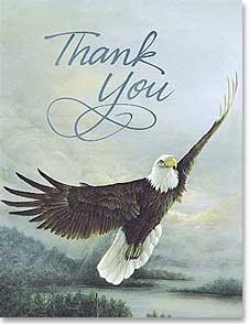 Blank Note Card Set<BR/>8 of 1 design - Thank You | Time To Soar | Larry K. Martin | 35013 | Leanin' Tree