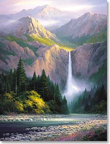 Blank Note Card Set<BR/>8 of 1 design - Note Card Sets | Rocky Mountain's Hidden Waterfall | Charles H. Pabst | 35117 | Leanin' Tree