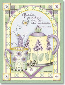 Everyday Note Card Set - God has poured his love; Romans 5:5 | Debbie Mumm | 35322 | Leanin' Tree