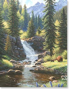 Blank Note Card Set<BR/>8 of 1 design - Bears in Paradise | Mark Keathley | 35473 | Leanin' Tree