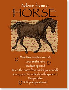 Blank Note Card Set<BR/>8 of 1 design - Advice from a Horse: Gallop to Greatness | Your True Nature® | 35847 | Leanin' Tree