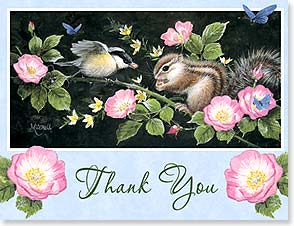 Blank Note Card Set<BR/>8 each of 1 design - Thank You | Barbara Mitchell | 35912 | Leanin' Tree