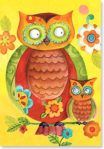 Mother's Day Card - Yooou!  That's Whoooo! | Sue Zipkin | 38506 | Leanin' Tree