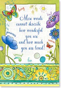 Mother's Day Card - Mere words cannot describe how wonderful you are! | Sue Zipkin | 38508 | Leanin' Tree