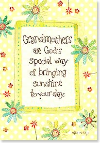 Mother's Day Card - Grandmothers are God's special way of bringing sunshine | Robbin Rawlings | 38509 | Leanin' Tree