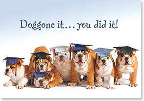 Graduation Card - Take a bow-wow! Congratulations on Your Graduation | Harvey Gariety | 38569 | Leanin' Tree