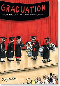 Graduation Card - Wishing you loads of luck. Congratulations! | Dare to Laugh™ | 38576 | Leanin' Tree