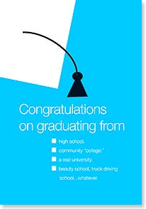 Graduation Card - I hope you land a job.  Good luck with that! | Dare to Laugh™ | 38577 | Leanin' Tree
