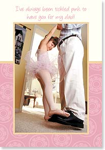 Father's Day Card - Tickled pink to have you for my dad! | SuperStock, Inc. | 38649 | Leanin' Tree