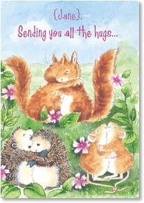 Birthday Card - Sending Hugs: John 1:16 | Margaret Sherry | 3_2000169-P | Leanin' Tree