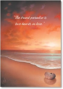 Love & Romance Card - Truest Paradise | David Christopher Miller | 3_2000225-P | Leanin' Tree
