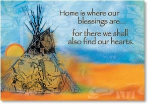 Blank Card with Quote / Saying - Home is Where Our Blessings Are | Bee Sturgis | 3_2001042-P | Leanin' Tree
