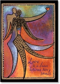 Blank Card - Love is a Dance Between Two Souls | Laurel Burch™ | 3_2001157-P | Leanin' Tree