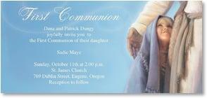 First Communion Announcement - 'Under His Wing' | Jay Bryant Ward | 3_2001187-P | Leanin' Tree