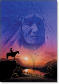 Blank Card - Sioux Chief | Matt Westrup | 3_2001452-P | Leanin' Tree