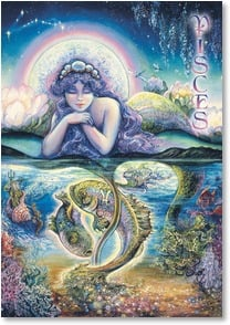 Birthday Card - Pisces: Feb 19 - March 20 | Josephine Wall | 3_2001588-P | Leanin' Tree