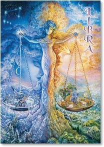 Birthday Card - Libra: Sept 23 - Oct 23 | Josephine Wall | 3_2001591-P | Leanin' Tree