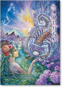 Blank Card with Quote / Saying - Scorpio: Oct 24 - Nov 22 | Josephine Wall | 3_2001593-P | Leanin' Tree