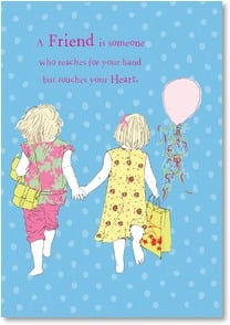 Blank Card with Quote / Saying - A Friend Touches Your Heart | Jayne Oliver | 3_2001726-P | Leanin' Tree