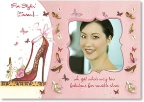 Blank Card with Quote / Saying - Too fabulous for sensible shoes | Maria Woods | 3_2001758-P | Leanin' Tree