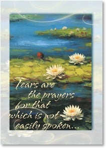 Sympathy Card - God hears your tears and holds you close; Romans 8:26-27 - 3_2002127-P | Leanin' Tree