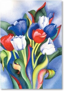 Blank Card - Patriotic Tulips | Amy Hautman | 3_2002271-P | Leanin' Tree