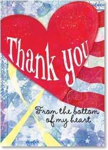 Blank Card with Quote / Saying - From the bottom of my heart! | LT Studio | 3_2002305-P | Leanin' Tree